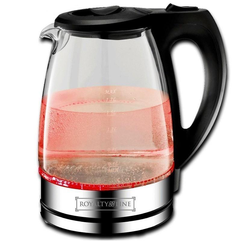 Royalty line waterkoker glas 1 7 liter rood waterkokers keukentools for Verwijderbaar glas